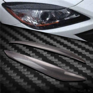 Carbon Fiber Headlight Cover Eyebrows Eyelid Trim Sticker For Mazda 3 2010 2013