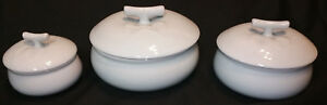 Korean Covered Melon Bowl Set White Celadon Ceramic 6pc Hand Made Signed Joseon