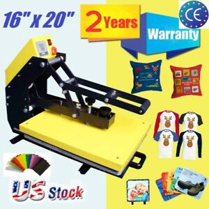Vertical Clamshell T shirt Heat Press Machine 16 x 20 Heat Transfer Sublimation