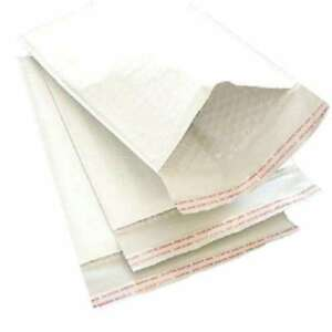 7 25 X 12 1 White Kraft Bubble Mailer Packaging Supplies Bags 500 Pieces