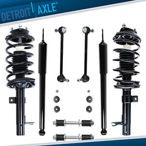 Front Struts Rear Shocks Sway Bar Link Kit 2000 2005 Ford Focus Not For Wagon