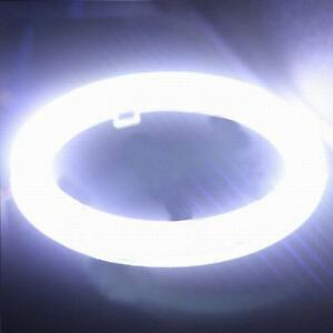 2x White 60mm Cob Led Angel Eyes Headlight Halo Ring Warning Lamps With Cover