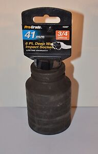 41 Mm Metric 3 4 Drive 6 Point Deep Impact Socket New Free Shipping