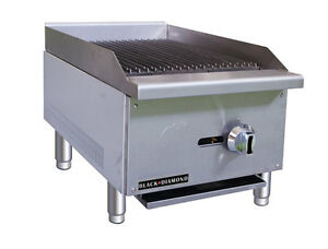 Black Diamond Commercial Restaurant 16 Gas Char broiler 30 000 Btu Bdectc 16 ng