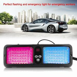 86 Led Emergency Warning Flash Sunshield Visor Strobe Light Red Blue Lights Fh