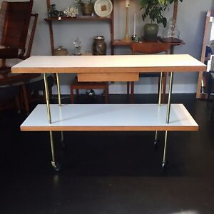 Rare Mid Century Serving Cart By Harvey Probber Rolling Bar Server