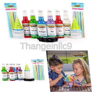 Hawaiian Shaved Ice 6 Flavor Fun Pack Includes 6 Snow Cone Syrups 16oz Eac