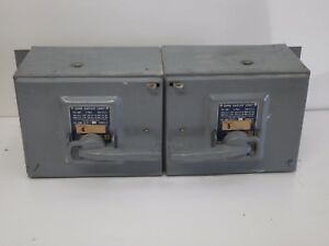 Square D Qmb 3610 t Fusible Panelboard Disconnect Switch Saflex Unit 100amp 600v