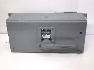 Square D Qmb 3620 Fusible Panelboard Disconnect Switch Saflex Unit 200 amp 600v