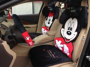 New Listing Cartoon Character Plush Car Seat Cushions Accessories Set