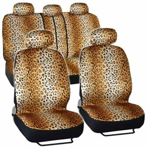 Bdk Quality Pro Seat Covers Leopard Print Auto Seat Covers Full Set