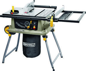 Rockwell Portable Table Saw Trolley Stand 120 Vac 15 A 10 In Blade 4800 Rpm