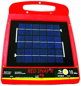 Red Snap r Esp10m rs lis10b Low Impedance Electric Fence Charger Solar Powered