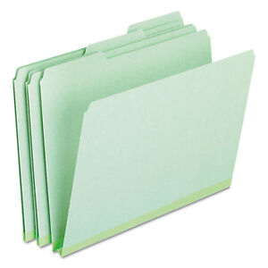 Pressboard Expanding File Folders 1 3 Cut Top Tab Letter Green 25 box
