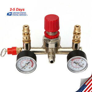 Regulator Pressure Air Compressor Control Switch Valve Gauge 230v 16a 125 Psi