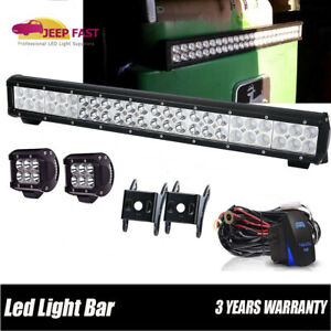 Led 23 Light Bar For John Deere 9100 9200 9300 9300t 9400 9400t W cube Pods Kit