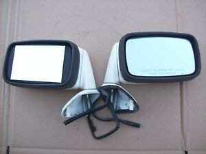 Porsche 911 928 944 Turbo S S2 S4 Flag Side Mirror Assemblies White Mirrors