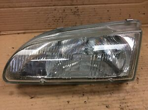 92 95 Civic Left Driver Side Headlight Beam Unit Lamp Light Glass Lens Oem