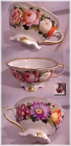 1800s Hand Painted Pedestal Tea Cup Royal Crown Derby England