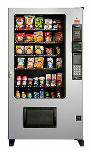 2 X Ams Candy Chip Snack Vending Machine Gray 45 Select W coin Bill Mech