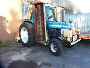 L k Ford 6610 Tractor With Three Mott Mowers And Ac