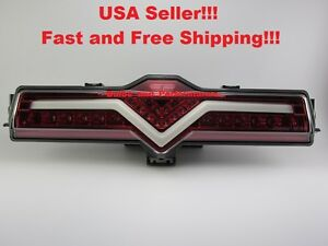 Clear red Lens Led Rear Bumper Reverse 4th Brake Fog Light Lamp For Subaru Brz