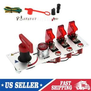 12v 20a Ignition Switch Engine Start Push Button Toggle Racing Car Panel L2v2