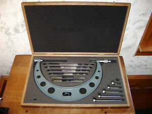 Mitutoyo 6 12 Inch Micrometer Set W Standards No 104 138
