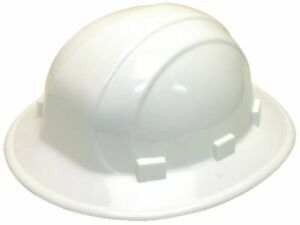 Erb Industries 19911 White Hard Hat With Full Brim