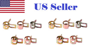10 Pcs 5mm 6mm 7mm 8mm 9mm Spring Band Clip Fuel Oil Silicone Vacuum Hose Clamp