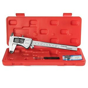 Eagems Digital Caliper Rugged Stainless Steel Ip54 Water Resistant Large Lcd New