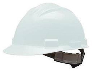 Bullard Vtwhr White Hdpe Cap Style Hard Hat With 4 Point Ratchet Suspension