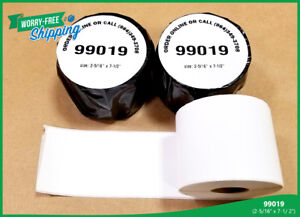 20 Rolls Of 99019 Labels Postage 2 5 16 X 7 1 2 Address Name Shipping Badges