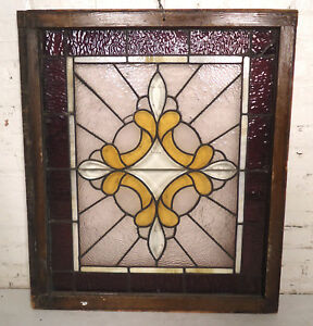 Vintage Stained Glass Window Panel 00678 Ns