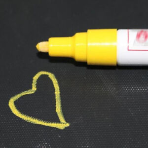 1pcs Yellow Permanent Waterproof Car Tyre Tire Tread Rubber Paint Markers Pen