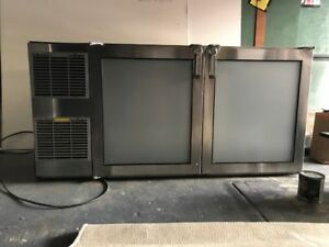 Glastender Used Under Bar Reach In Cooler Refrigerator For Restaurant