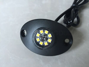 8 Led 24w Hideaway Light Strobe Warning Flashing Lamp Fire Tow Truck Patrol