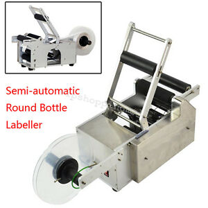 Semi automatic Round Bottle Labeling Machine Labeler 110v 220v Simple Structure