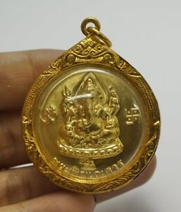 Phra Pikanet Pi Ganesh Amulet Necklace Pendant For Love Lucky Wealth A62