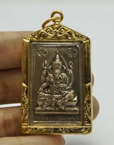 Phra Pikanet Pi Ganesh Amulet Necklace Pendant For Love Lucky Wealth A60
