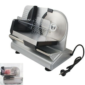 7 5 Blade Commercial Electric Food Slicer Meat Stainless Steel Cheese Cutter