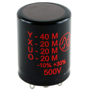 New Jj 40 20 20 20uf 500v Multisection Electrolytic Can Tube Amp Capacitor