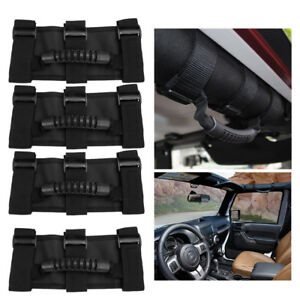 High Quality Set Of 4 Roll Bar Grab Handles For Jeep Wrangler Us Shipping