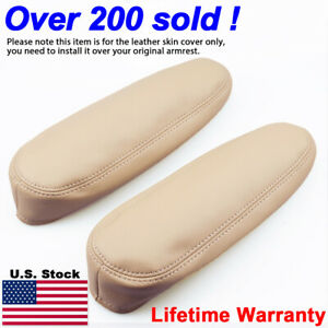 2pcs Leather Seat Armrest Cover Fit For Lexus Rx 300 330 350 2003 2009 Beige Tan