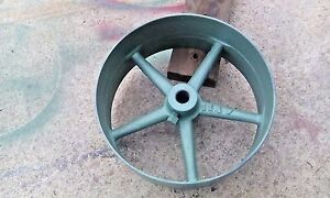 Steam Engine Tractor Flat Belt Pulley Cast Iron 14 dia 6 Wide 1 25 Bore 114f