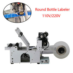 Stainless Steel Small Size Round Bottle Labeler Labeling Machine110 220v Durable