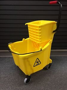 Rubbermaid Side press Wringer bucket Combo 35 Qt Yellow 1863896 New