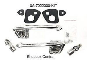 1950 1951 Ford Shoebox Complete Outside Door Handle Kit Save