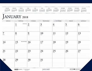 House Of Doolittle 2018 Monthly Desk Pad Calendar Classic 22 X 17 Inches