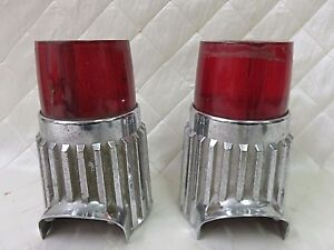 Plymouth Fury Savoy 1961 Tail Light Assembly Pair Chrome Vintage Auto Parts